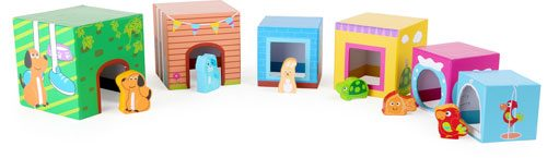 Cubos de madera para apilar con figuras detalle 4