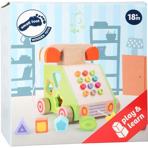 Teléfono de motricidad madera detalle 3
