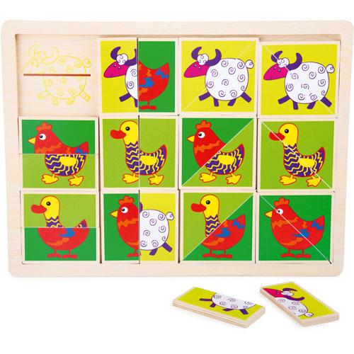 Puzzle Animales divertidos 18 piezas