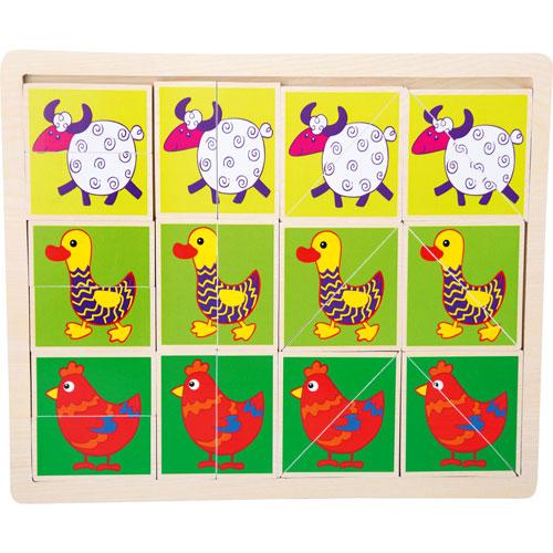 Puzzle Animales divertidos 18 piezas detalle 1