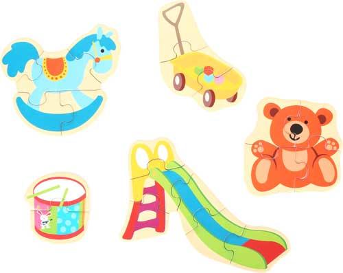 Puzzles mis juguetes favoritos 20 piezas detalle
