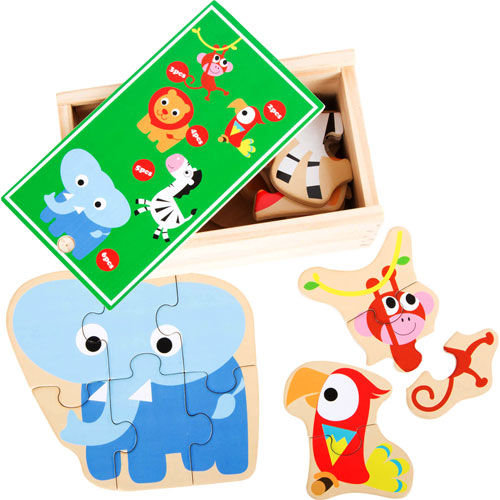Caja de puzzles Animales salvajes