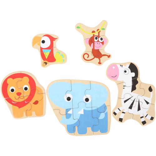 Caja de puzzles Animales salvajes detalle 1