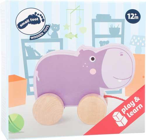 Animal de arrastre Hipopótamo detalle de la caja