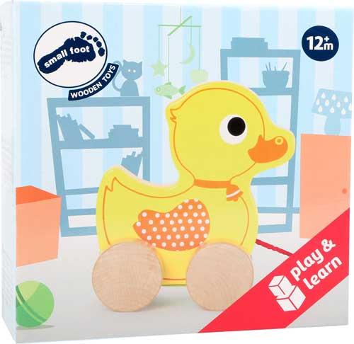 Animal de arrastre Pato detalle de la caja