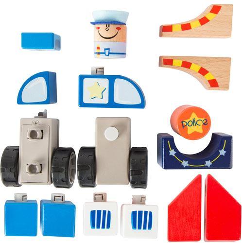 Construcción policía con sonido 20 piezas detalle 4