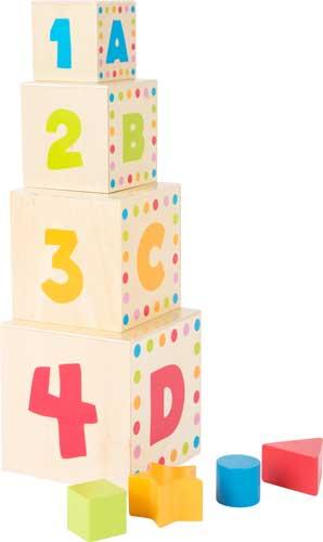 Cubos para apilar ABC detalle 1