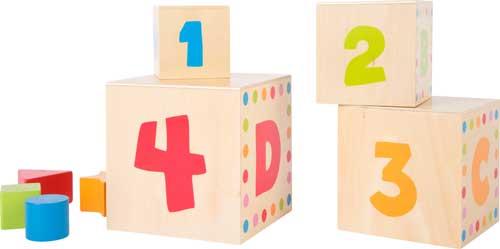 Cubos para apilar ABC detalle 2