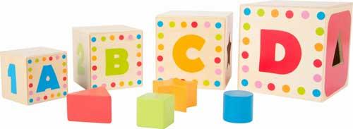 Cubos para apilar ABC detalle 3