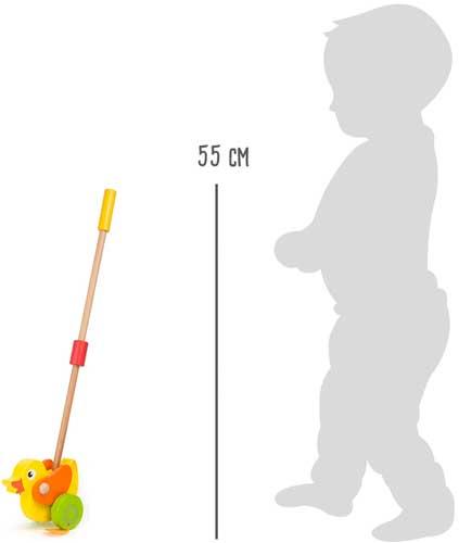 Animal para empujar Pato detalle de las medidas