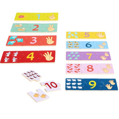 Puzzles Los números 10 x 3 piezas