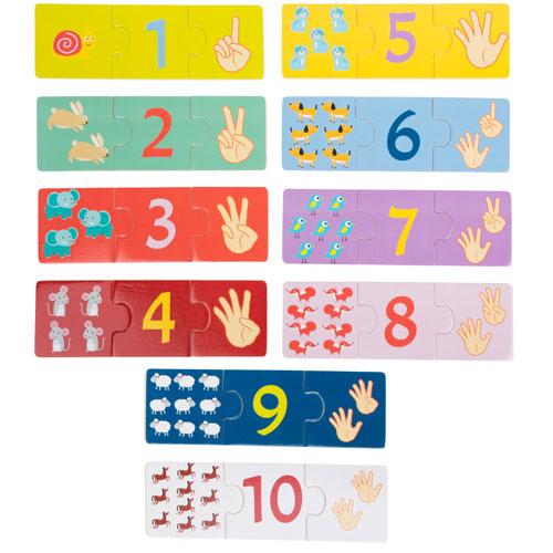Puzzles Los números 10 x 3 piezas detalle 1
