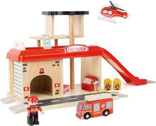 Estación de bomberos madera