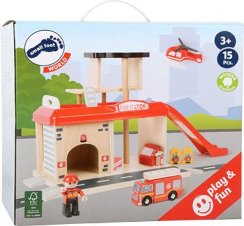 Estación de bomberos madera detalle 3