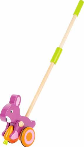 Animal para empujar Conejito con zanahoria detalle 1