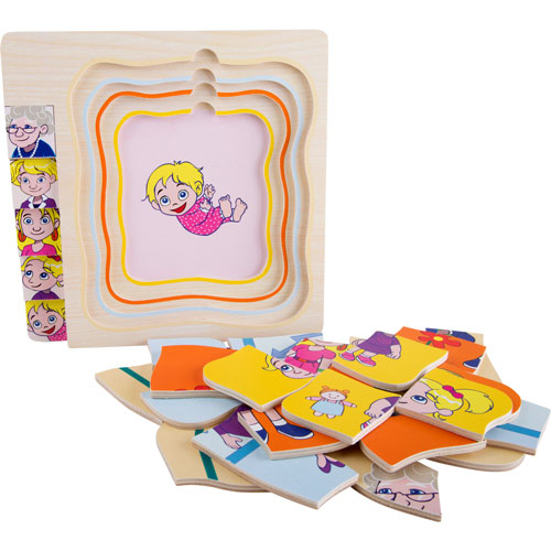 Puzzle De niña a abuela por capas 28 piezas detalle 4