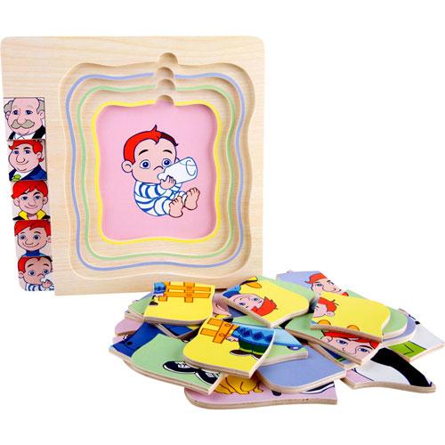 Puzzle De niño a abuelo por capas 28 piezas detalle 4