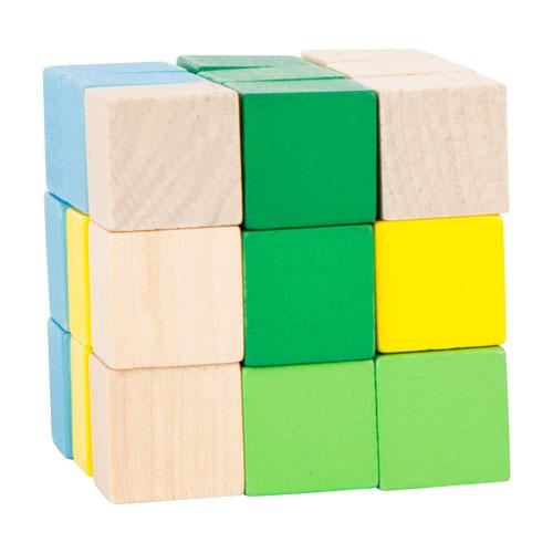 Cubo rompecabezas madera