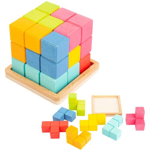 Cubo TETRIS 3D cubo madera