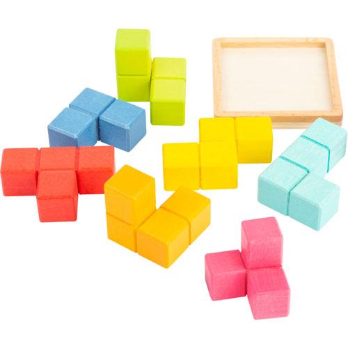 Pequeño cubo TETRIS 3D cubo madera detalle 1