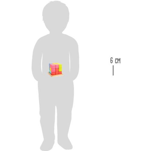 Pequeño cubo TETRIS 3D cubo madera 7 piezas detalle 2