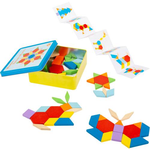 Mosaicos con modelos caja metal 52 piezas