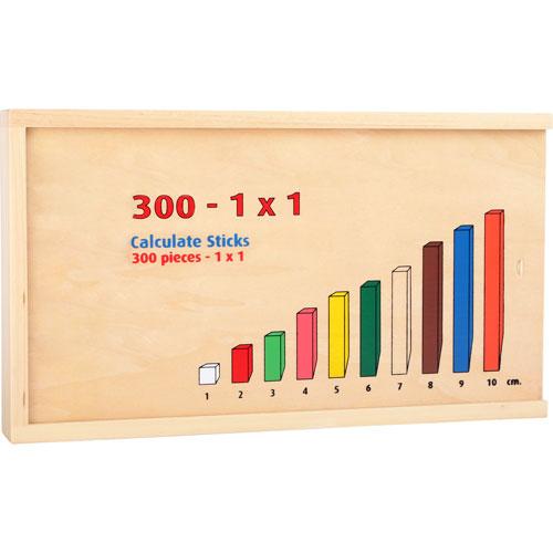 Regletas madera 300 piezas detalle 1