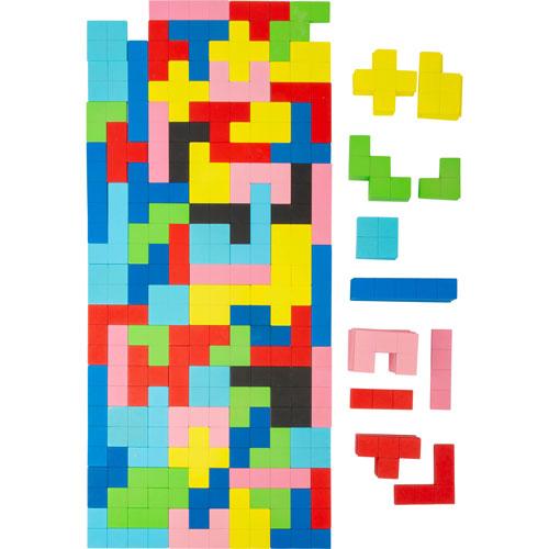 Juego tipo TETRIS de madera 144 piezas detalle 1