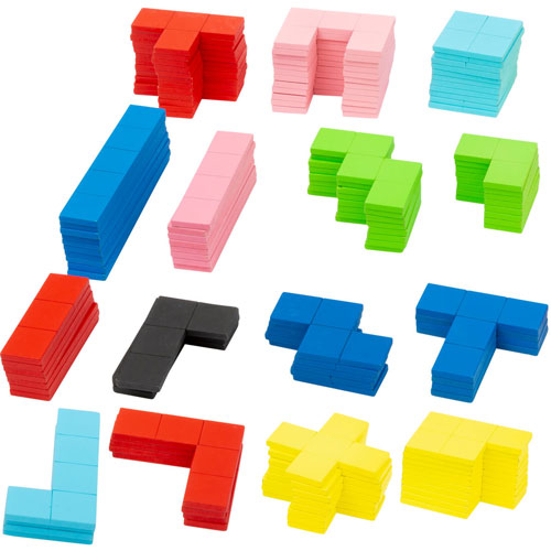 Juego tipo TETRIS de madera 144 piezas detalle 2