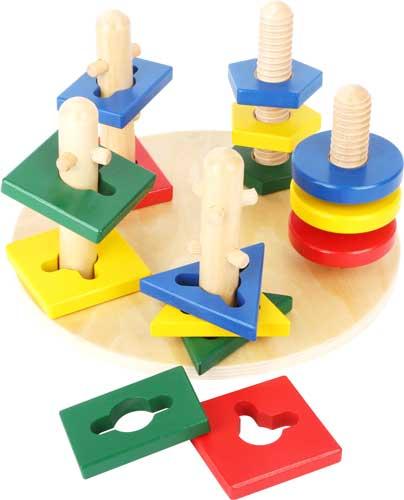 Torres de motricidad madera 15 piezas detalle 3