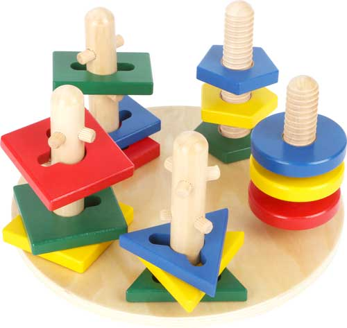 Torres de motricidad madera 15 piezas