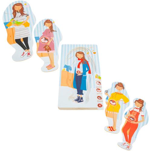 Puzzle por capas Etapas del Embarazo madera