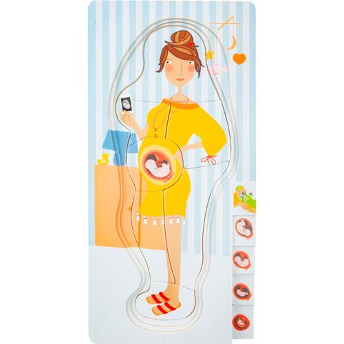 Puzzle por capas Etapas del Embarazo madera detalle 5