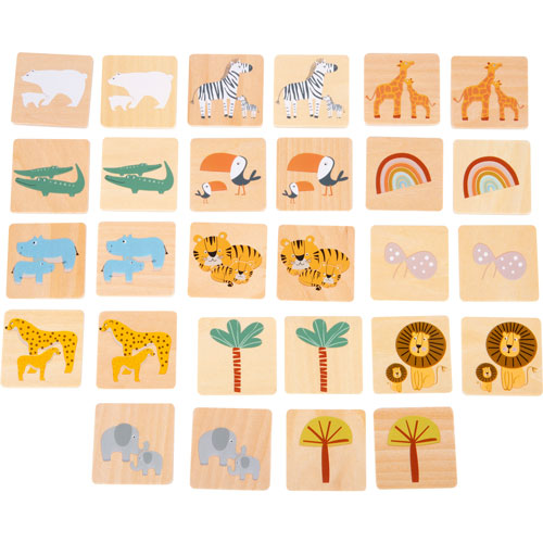 Juego de memoria Safari 28 piezas detalle 1