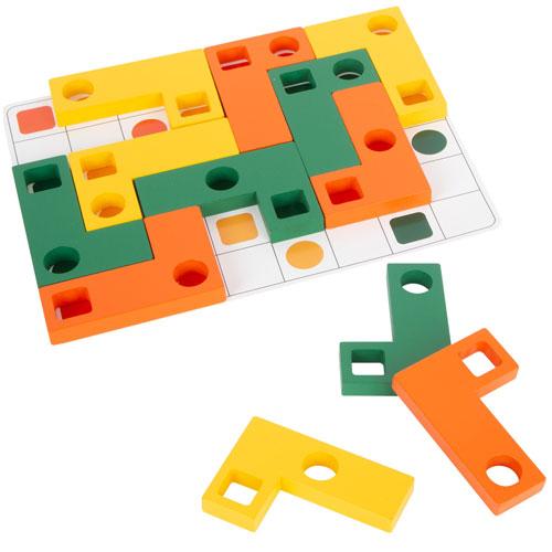 Obsreva y Colaca colores y formas 27 piezas detalle 1