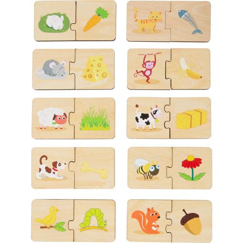 Asociación Alimento de los animales 10 piezas detalle 1