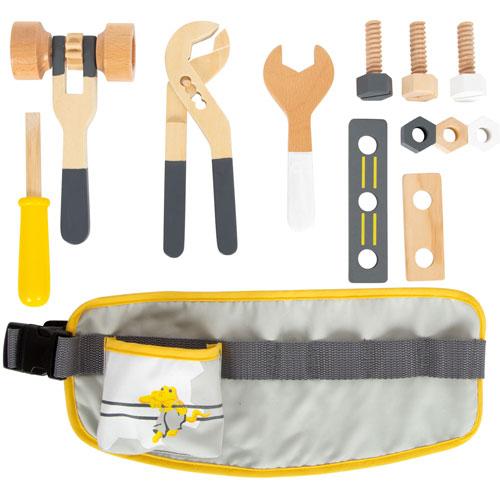 Cinturón de herramientas madera detalle 1