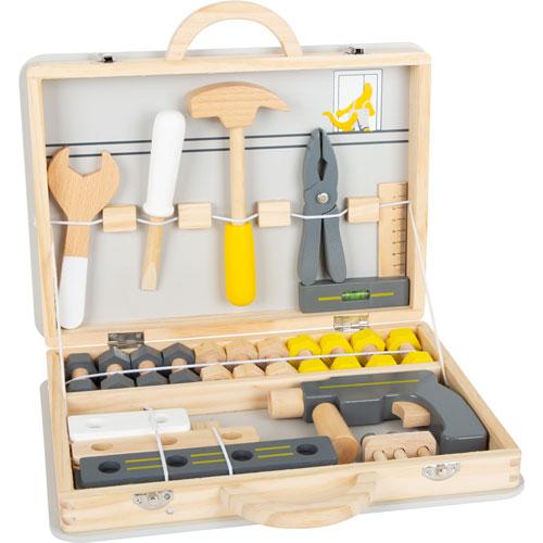 Maletín de herramientas grande madera