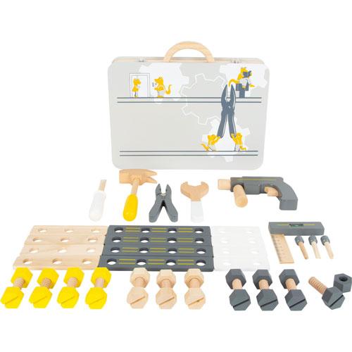 Maletín de herramientas grande madera detalle 1