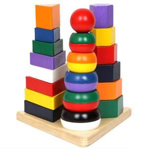 Pirámide tres en uno madera 25 piezas