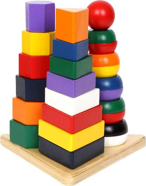 Pirámide tres en uno madera 25 piezas detalle 4