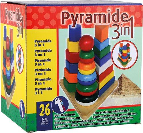 Pirámide tres en uno madera 25 piezas detalle 5