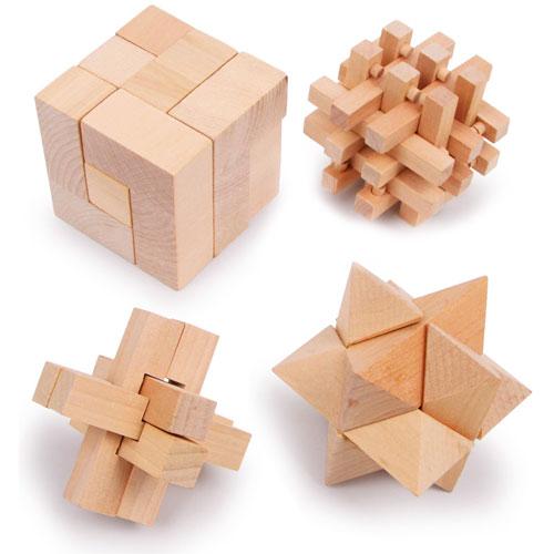 Rompecabezas madera 4 piezas