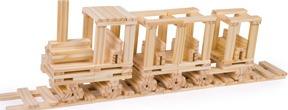 Construcción madera 150 piezas detalle 1