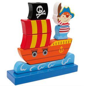 Apilable barco pirata