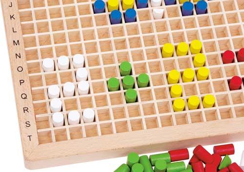 Ensartar creativo madera 500 piezas detalle
