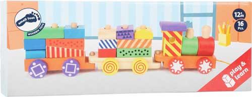 Tren colorido detalle de la caja