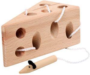 Queso y ratón para ensartar madera