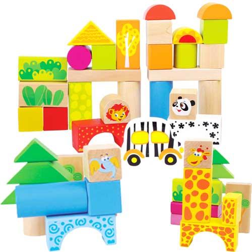 Construcción zoo madera 50 piezas