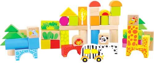 Construcción zoo madera 50 piezas detalle 2